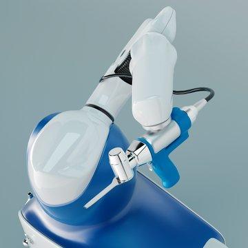 3d render of a medical robotic surgery arm machine. 3d rendering