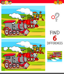 find differences game with locomotives