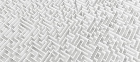 endless maze, banner size - 3d rendering