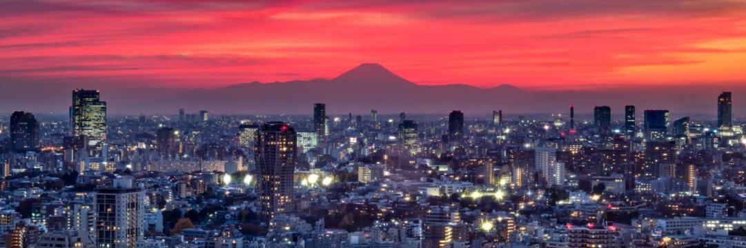 Tokyo Panorama bei Sonnenuntergang