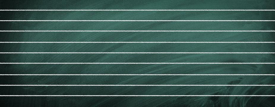 School blackboard with lines