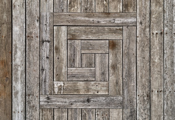 Grayed unstained wood wall