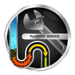 Clearing repair of water pipes and plumbing symbol
