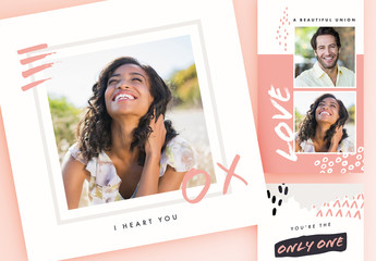Valentine's Day Handcrafted Social Media Set
