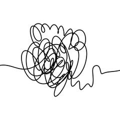 Hand drawn scribble vector sketch line object isolated on white background.