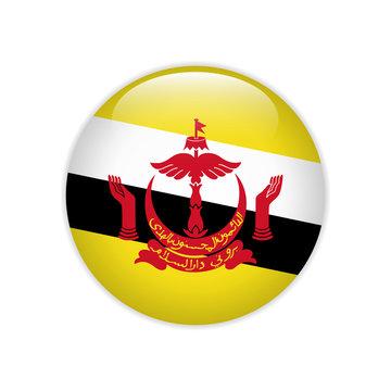 Brunei flag on button