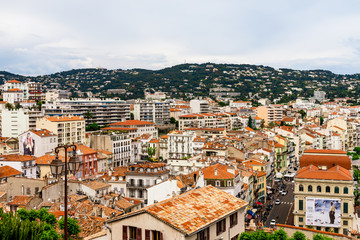 Panoramic view of the old town of Cannes, France Cote d'Azur