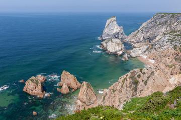 The rocky coastline of Portugal near Cabo da Roca (Cape Roca)