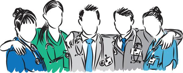 doctors vector medical staff illustration