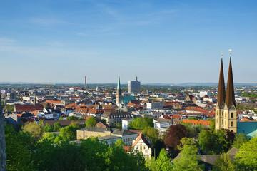 Stadtansicht Bielefeld mit Nikolaikirche und Neustädter Marienkirche Wall mural