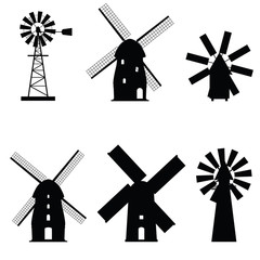 windmill icon old and retro object