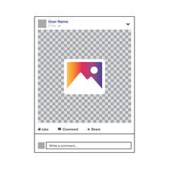 Social media Instagram video frame gradient colour, ui, app, web. Vector illustration. EPS 10