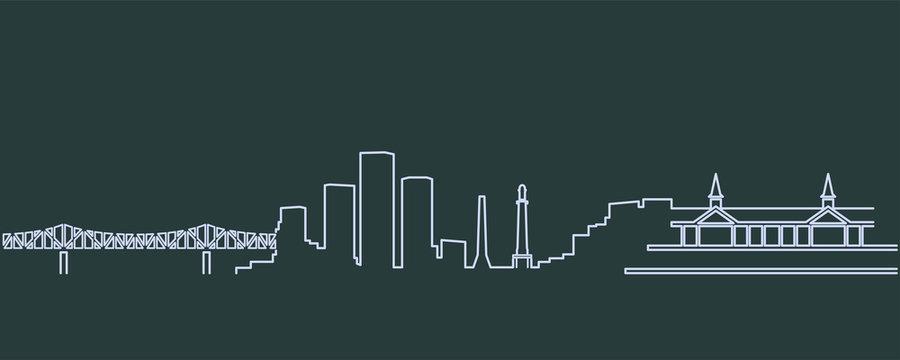 Louisville Single Line Skyline
