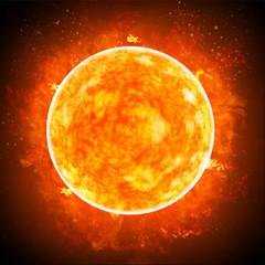 Sole. Bagliore solare è un improvviso lampo di maggiore luminosità sul Sole. Espulsione di plasmi e particelle attraverso la corona del Sole nello spazio esterno