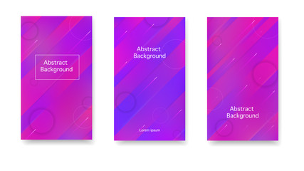 Creative cover in a minimalist style. Color geometric gradient, abstract background. Gradient, neon, lines, forms. Vector.