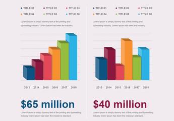 2 3D Bar Graphs Infographic