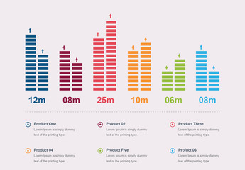 Multicolored Bar Graph Infographic