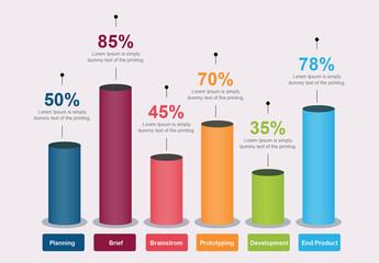 3D Bar Graph Infographic