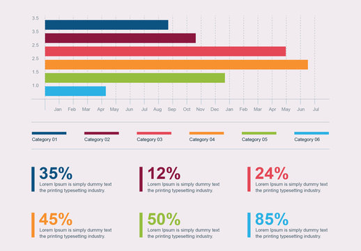 Multicolored Bar Graph Infographic