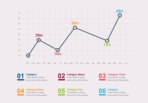 Line Graph Infographic