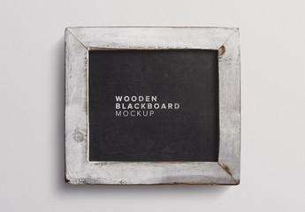 Small Chalkboard with Wooden Frame Mockup