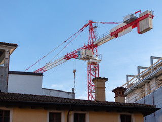 Tower crane at the construction site