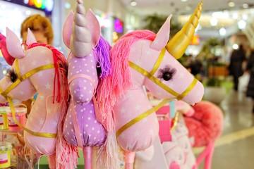 pink unicorns, mythical toys