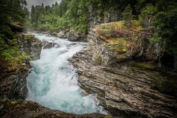Wall Mural - Scenic Norwegian Gorge