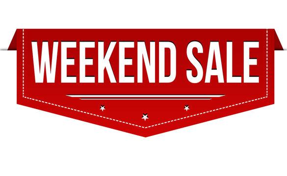 Weekend sale banner design