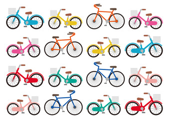 自転車素材イラスト詰め込みセット