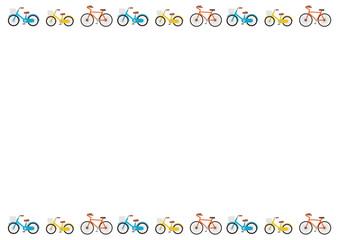 自転車入り背景画面・フレーム