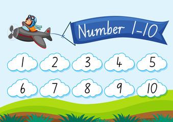 Count number to ten