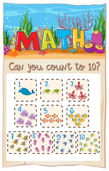 Count number math to ten