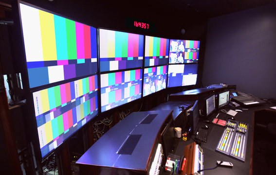 News Control Room TV Broadcasting