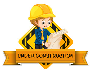 Engineer under construction logo