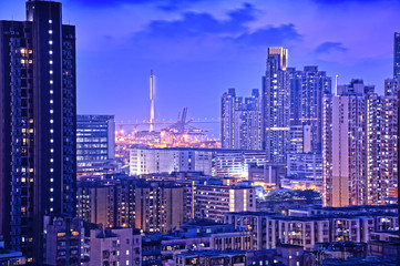 Dusk shot of Garden Hill in Hong Kong