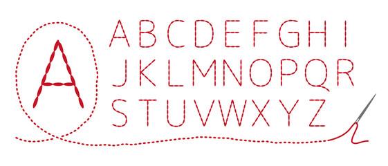 和風刺繍 アルファベット(大文字)返し縫い