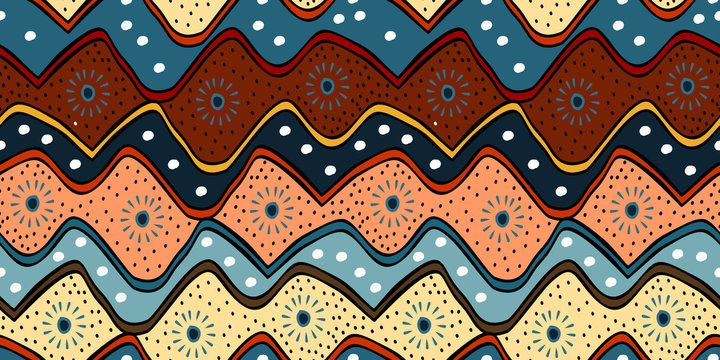 Traditional pattern with ethnic hand drawn batik modern indonesian, korean, japanese, chinese style vector illustration
