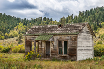 Abandoned Cabin in the Mountains