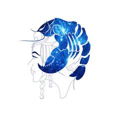 Cancer zodiac illustration