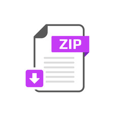 Download ZIP file format, extension icon