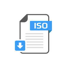 Download ISO file format, extension icon