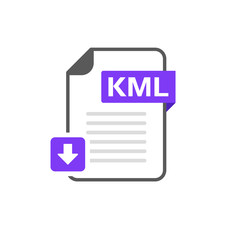 Download KML file format, extension icon