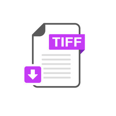 Download TIFF file format, extension icon