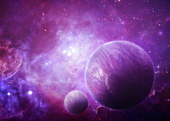 Alien World - Elements of this Image Furnished by NASA