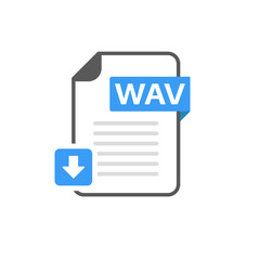 Download WAV file format, extension icon