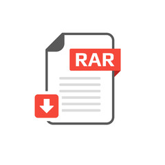 Download RAR file format, extension icon