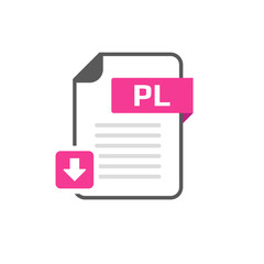 Download PL file format, extension icon