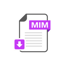 Download MIM file format, extension icon