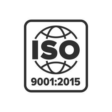 ISO 9001 certified symbol - Vector